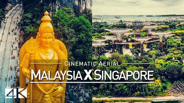【4K】Drone Footage | Malaysia X Singapore 2019 ..:: Cinematic Aerial Film | Kuala Lumpur vs Lion City