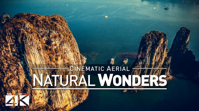 【4K】Drone Footage | Natural Wonders of Earth *EXTENDED* 2019 Cinematic Aerial Halong Bay Great Wall