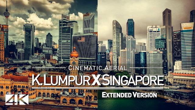 【4K】Drone Footage | KUALA LUMPUR X SINGAPORE | Southeast Asia 2019 ..:: Cinematic Aerial Film