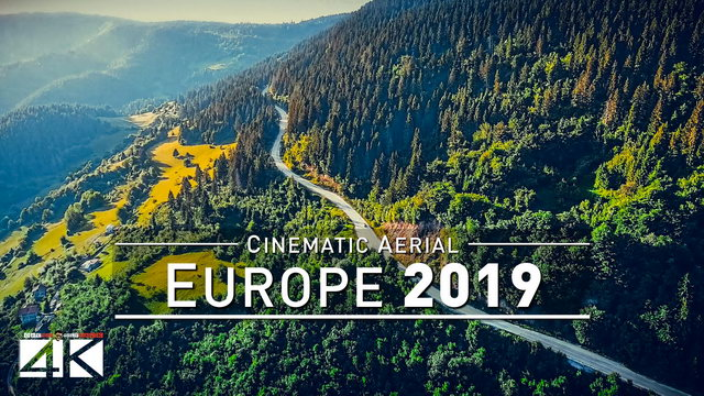 【4K】Drone Footage | The Beauty of EUROPE in 45 Minutes 2019 | Cinematic Aerial Film