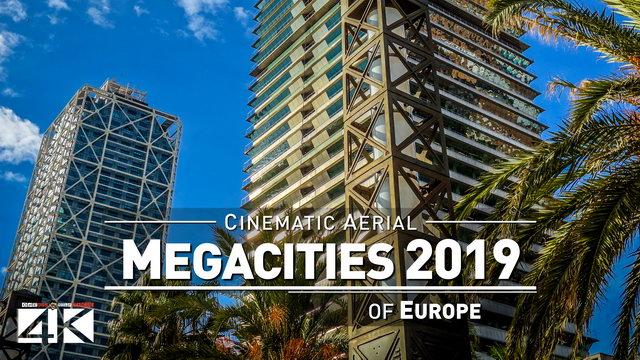 【4K】Drone Footage | 11 MEGACITIES of Europe 2019 ..:: Cinematic Aerial Film