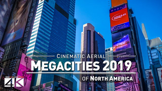 【4K】Drone Footage | 4 MEGACITIES of North America 2019 ..:: Cinematic Aerial Film