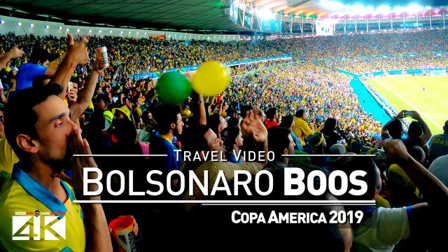 【4K】Footage | President BOLSONARO at Copa America 2019 Final ..:: Boos from the Crowd | Maracana Rio
