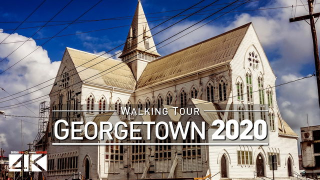 【4K】Footage | Virtual Walking Tour | Georgetown - Guyana 2019 | Travel Video Guide | Street Scenes