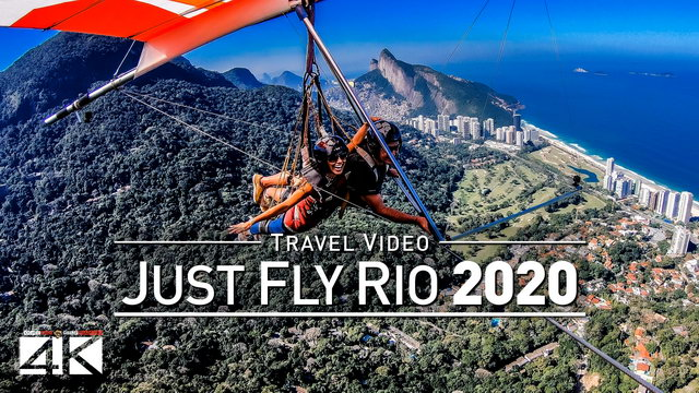 【4K】Drone Footage | JUST FLY RIO with Paulo Celani ..:: Hang Gliding in Rio de Janeiro 2019 | BRAZIL