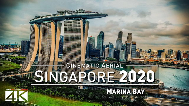 【4K】Drone Footage | Marina Bay and Gardens by the Bay - SINGAPORE 2019 ..:: Cinematic Aerial Film