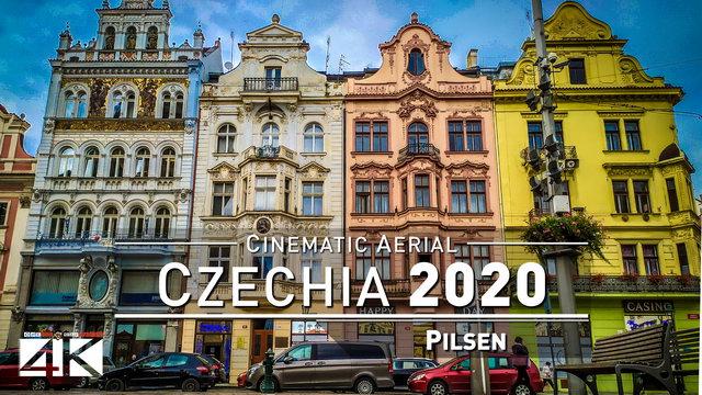 【4K】Drone Footage | Pilsen - CZECHIA 2019 ..: Cinematic Aerial | Doosan Arena | Plzeň Czech Republic