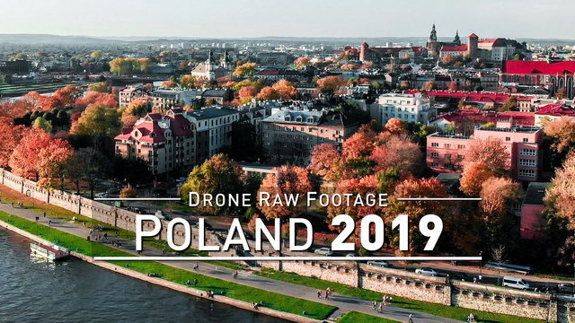 【4K】Drone RAW Footage | POLAND 2019 ..:: Krakow :: POLSKA | UltraHD Stock Video