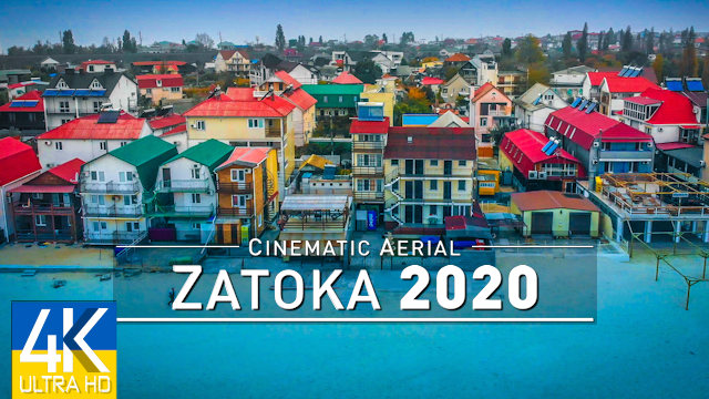 【4K】Zatoka from Above - The Black Sea of UKRAINE 2020 | Autumn Day | Cinematic Aerial Film