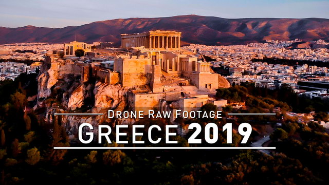 【4K】Drone RAW Footage | GREECE 2019 ..:: Athens | Capital | Akropolis :: UltraHD Stock Video