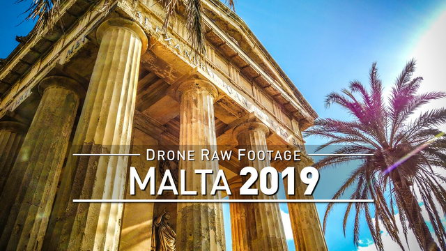 【4K】Drone RAW Footage | This is MALTA 2020 | Paradise Bay | Għajn Tuffieħa | UltraHD Stock Video