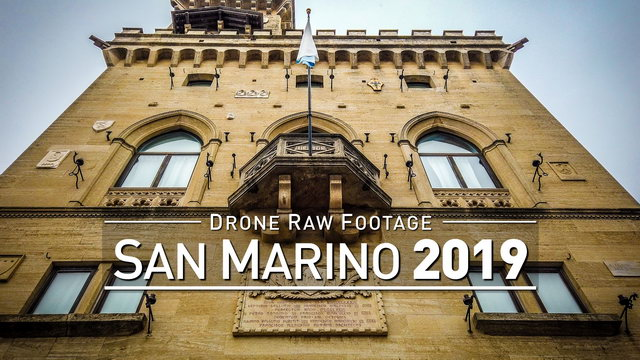 【4K】Drone RAW Footage | This is SAN MARINO 2020 | San Marino City | UltraHD Stock Video