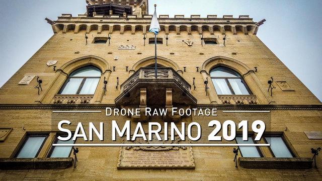 【4K】Drone RAW Footage | This is SAN MARINO 2020 | San Marino City | UltraHD Stock Video
