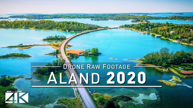 【4K】Drone RAW Footage | These are the ALAND ISLANDS 2020 | Mariehamn And More | UltraHD Stock Video