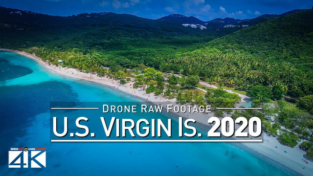 【4K】Drone RAW Footage | These are the AMERICAN VIRGIN ISLANDS 2020 | U.S. Thomas UltraHD Stock Video
