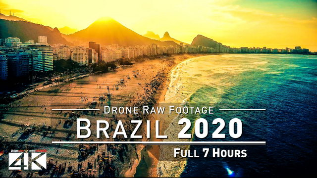 【4K】Drone RAW Footage | This is BRAZIL 2020 | Sao Paulo | Rio de Janeiro Brasil UltraHD Stock Video