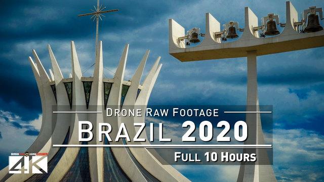 【4K】Drone RAW Footage | This is BRAZIL 2020 | Belo H | Fortaleza | Recife | BSB UltraHD Stock Video