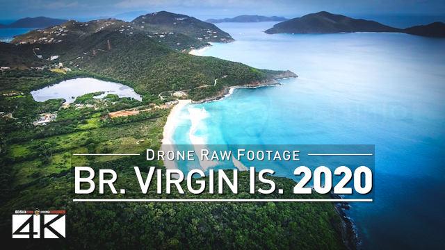 【4K】Drone RAW Footage | These are the BRITISH VIRGIN ISLANDS 2020 | BVI Tortola UltraHD Stock Video