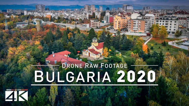 【4K】Drone RAW Footage | This is BULGARIA 2020 | Capital City Sofia | UltraHD Stock Video