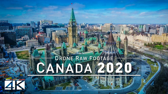 【4K】Drone RAW Footage | This is CANADA 2020 | Montreal Ottawa Quebec and More | UltraHD Stock Video