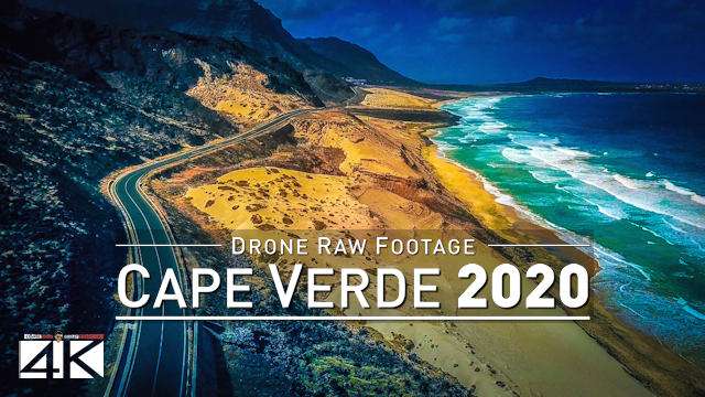 【4K】Drone RAW Footage | This is CAPE VERDE 2020 | São Vicente Mindelo and More | UltraHD Stock Video