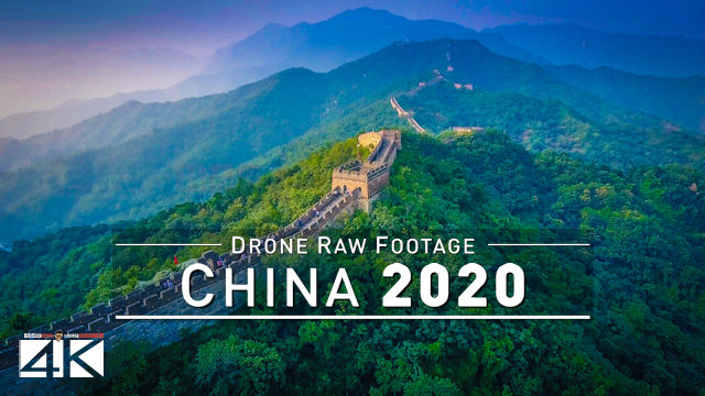 【4K】Drone RAW Footage | This is the GREAT WALL CHINA 2020 | Mutianyu Jinshanling UltraHD Stock Video