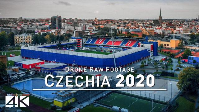 【4K】Drone RAW Footage | This is CZECHIA 2020 | Pilsen | UltraHD Stock Video