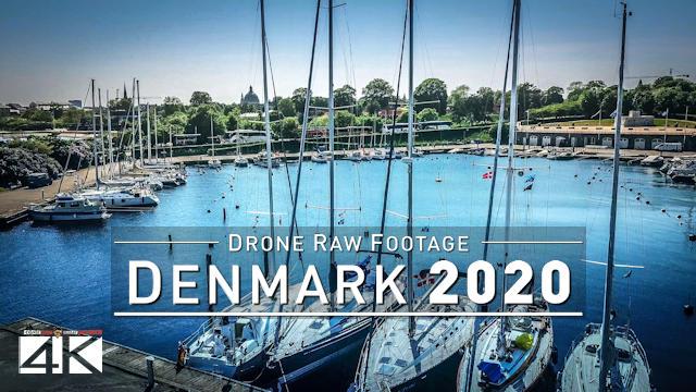 【4K】Drone RAW Footage | This is DENMARK 2020 | Capital City Copenhagen | UltraHD Stock Video