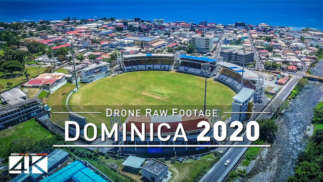 【4K】Drone RAW Footage | This is DOMINICA 2020 | Caribbean | Roseau and More | UltraHD Stock Video
