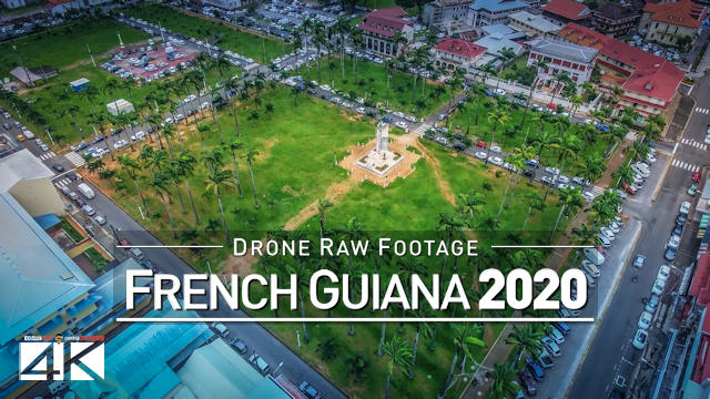 【4K】Drone RAW Footage | This is FRENCH GUIANA 2020 | Cayenne | Saint-Laurent | UltraHD Stock Video