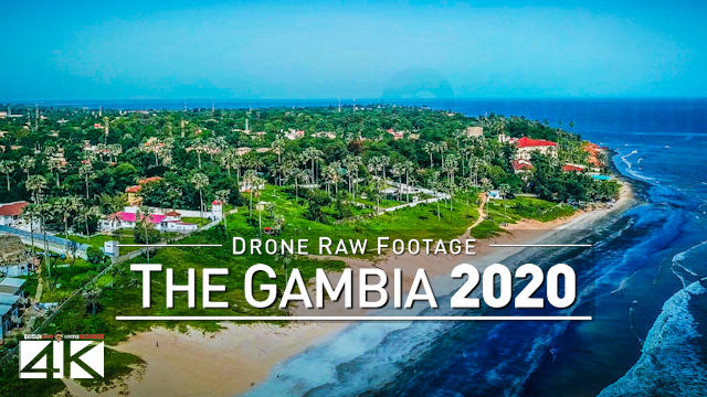 【4K】Drone RAW Footage | This is GAMBIA 2020 | Serekunda Banjul | UltraHD Stock Video