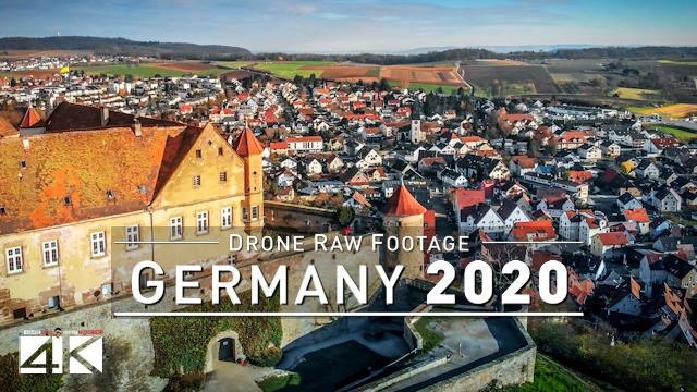 【4K】Drone RAW Footage | This is GERMANY 2020 | Oehringen | Baden-Wuerttemberg | UltraHD Stock Video
