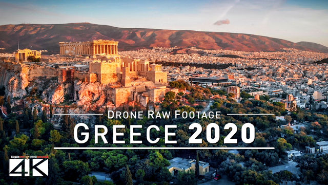 【4K】Drone RAW Footage | This is GREECE 2020 | Capital City Athens | UltraHD Stock Video