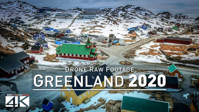【4K】Drone RAW Footage | This is GREENLAND 2020 | Nuuk | Qaqortoq and More | UltraHD Stock Video