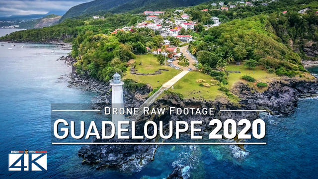 【4K】Drone RAW Footage | This is GUADELOUPE 2020 | Saint-Anne Vieux-Fort & More | UltraHD Stock Video