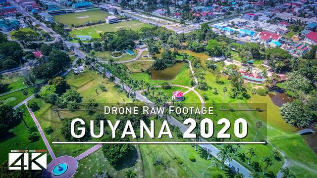 【4K】Drone RAW Footage | This is GUYANA 2020 | Georgetown | UltraHD Stock Video