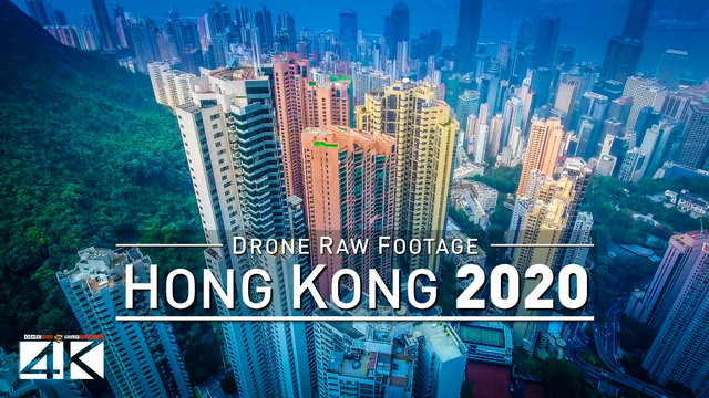 【4K】Drone RAW Footage | This is HONG KONG 2020 | Victorias Peak and More | UltraHD Stock Video