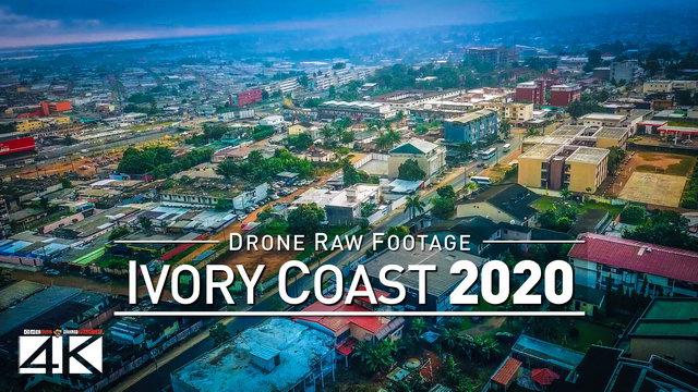 【4K】Drone RAW Footage | This is IVORY COAST 2020 | Capital City Abidjan | UltraHD Stock Video