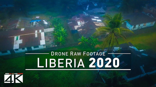 【4K】Drone RAW Footage | This is LIBERIA 2020 | Capital City Monrovia | UltraHD Stock Video