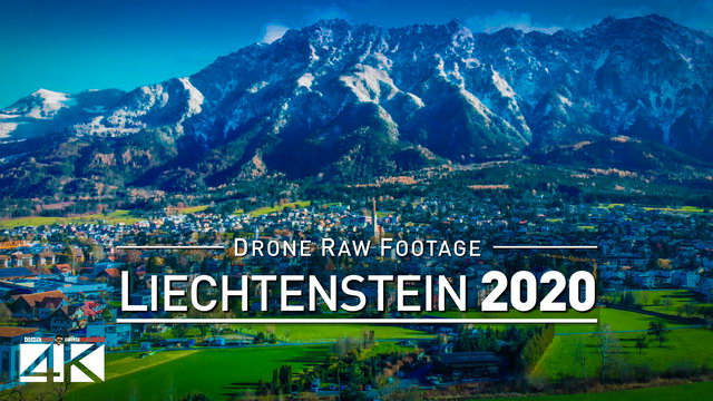 【4K】Drone RAW Footage | This is LIECHTENSTEIN 2020 | Vaduz | Schaan and More | UltraHD Stock Video