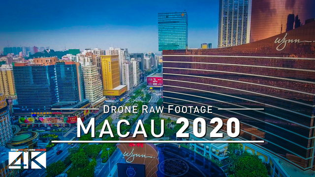 【4K】Drone RAW Footage | This is MACAU 2020 | Gambling Capital of the World | UltraHD Stock Video