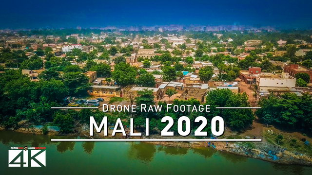 【4K】Drone RAW Footage | This is MALI 2020 | Capital City Bamako | UltraHD Stock Video