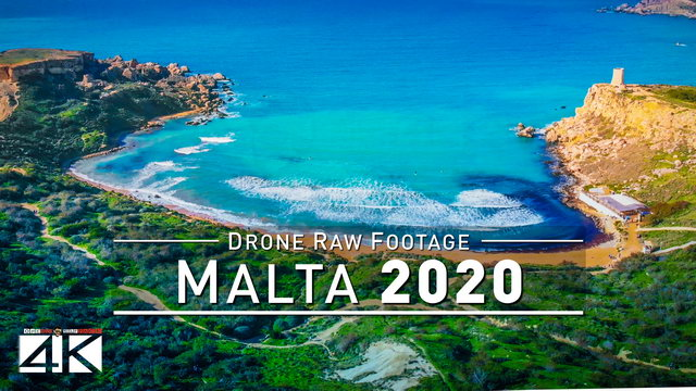 【4K】Drone RAW Footage | This is MALTA 2020 | Paradise Bay | Ghajn and more | UltraHD Stock Video