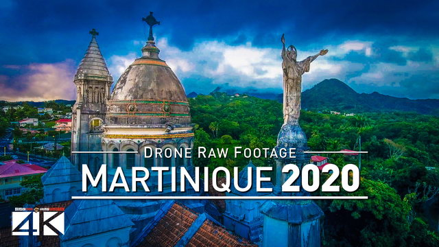 【4K】Drone RAW Footage | This is MARTINIQUE 2020 | Fort-de-France | Sainte-Anne | UltraHD Stock Video