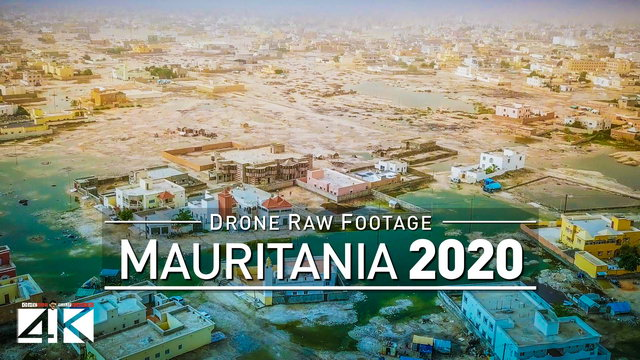 【4K】Drone RAW Footage | This is MAURITANIA 2020 | Capital City Nouakchott | UltraHD Stock Video