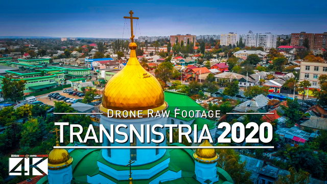 【4K】Drone RAW Footage | This is TRANSNISTRIA 2020 | Tiraspol | Moldova | UltraHD Stock Video