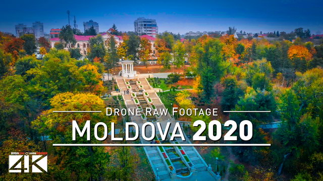 【4K】Drone RAW Footage | This is MOLDOVA 2020 | Capital City Chisinau | Tiraspol UltraHD Stock Video