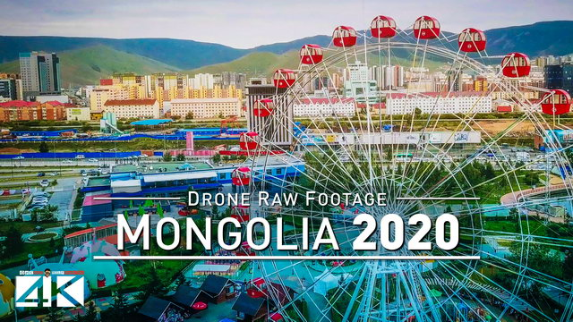 【4K】Drone RAW Footage | This is MONGOLIA 2020 | Capital City Ulanbataar | UltraHD Stock Video