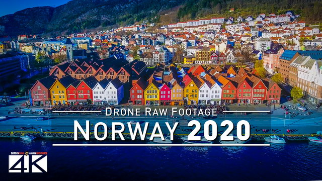 【4K】Drone RAW Footage | This is NORWAY 2020 | Bergen | Oslo | Lofoten and More | UltraHD Stock Video