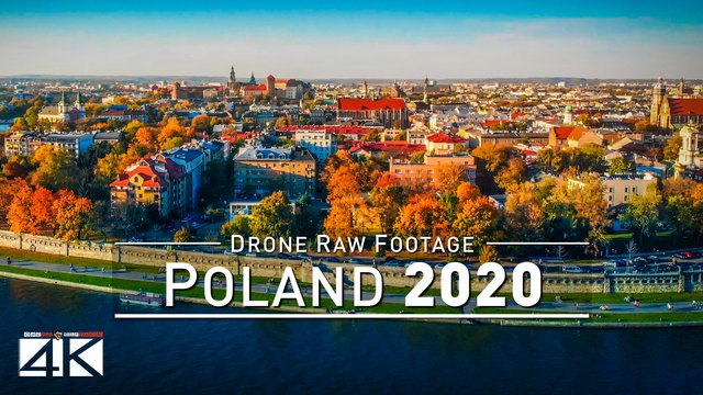 【4K】Drone RAW Footage | This is POLAND 2020 | Krakow | UltraHD Stock Video